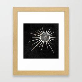 Sunrays and Swirls Inktober :: I Feel An Urgency Framed Art Print