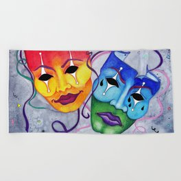 Comedy and Tragedy Beach Towel