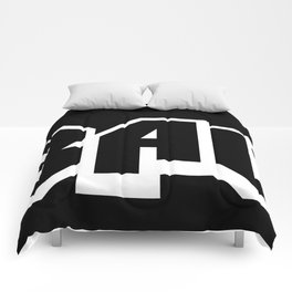 The A-BAUM Logo White Comforters