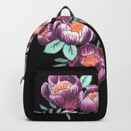 purple floral Backpack