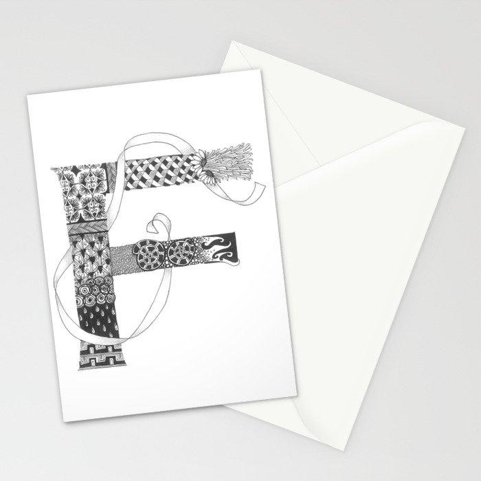 "Zenletter ""F"" Stationery Cards"