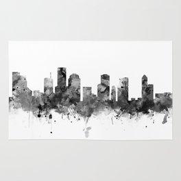 Houston Skyline Black and White Rug