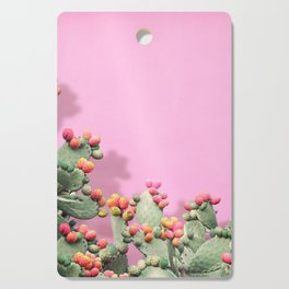 Prickly Pear plants on Pink Cutting Board