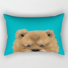 Chow Chow pet portrait custom dog art dog breeds by pet friendly Rectangular Pillow