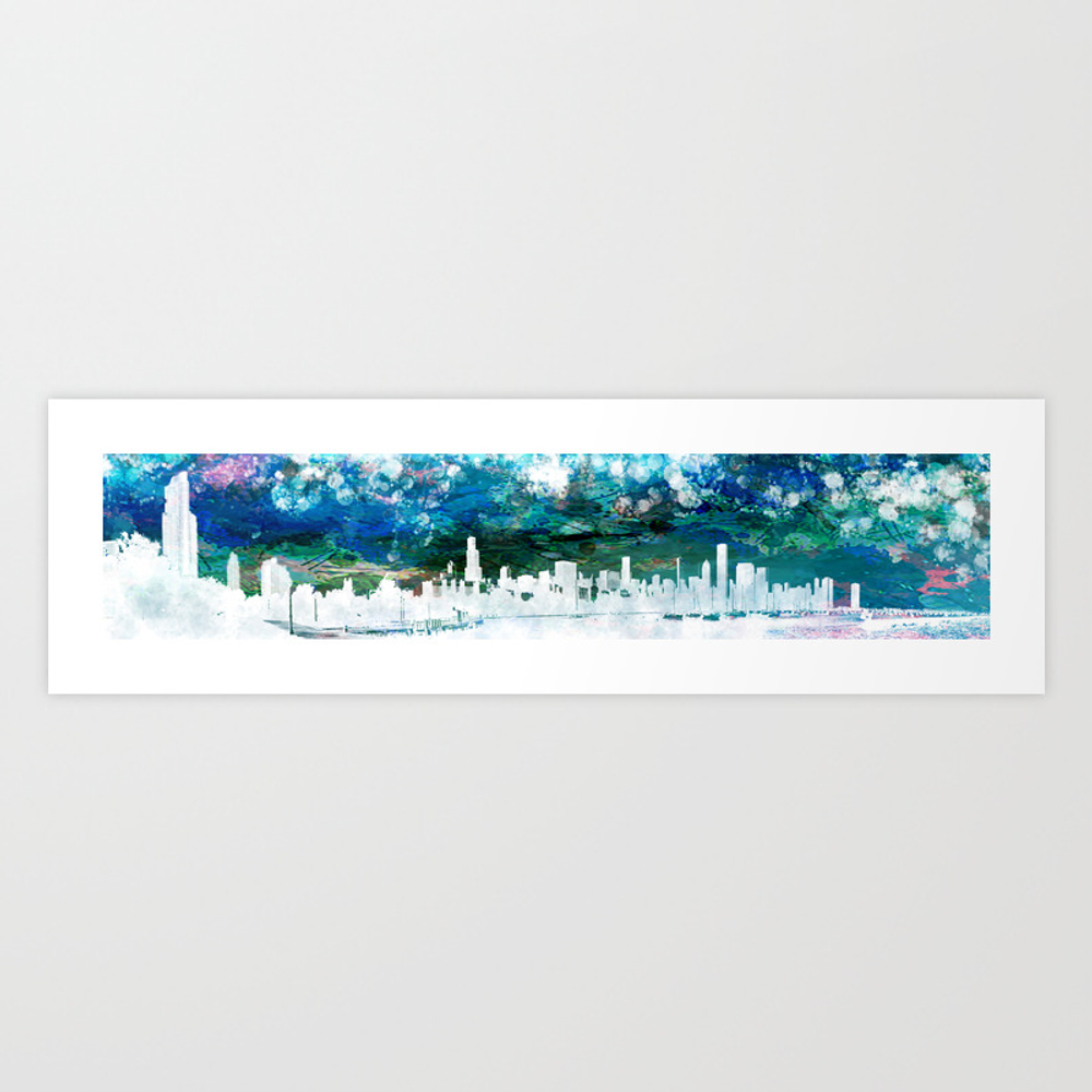 The Chicago Skyline Viewed From Shedd Aquarium In … Art Print by Thommorris PRN8573869