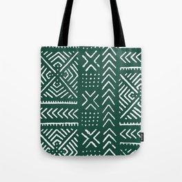 Line Mud Cloth // Brunswick Green Tote Bag