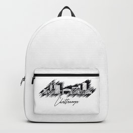 Chattanooga graphic scribble skyline in black Backpack