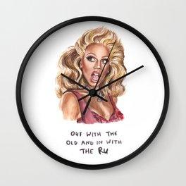 RuPaul - Funny Illustration - Drag Race Drag Queen Wall Clock