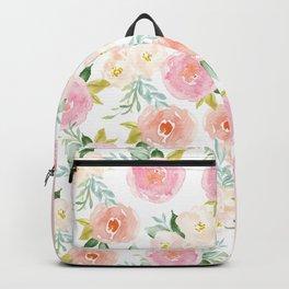 Sweet Pink Blooms (Floral 02) Backpack