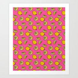 Retro Lemon Pop Art Print