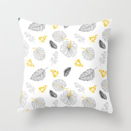 Leaves Pattern Throw Pillow