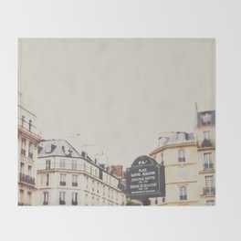 Place Sartre Beauvoir Throw Blanket