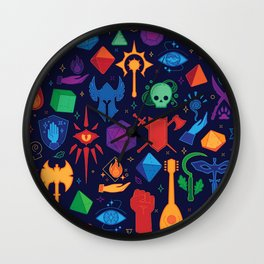 DnD Forever - Color Wall Clock