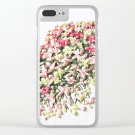 Flower Shadows Clear iPhone Case