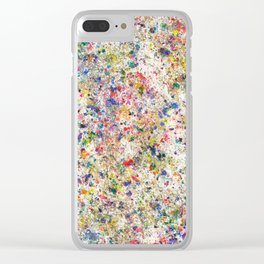 Abstract Artwork Colourful #7 Clear iPhone Case