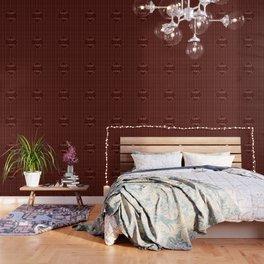 Gold Burgundy Polka Dots Good Vibes Wallpaper