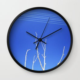 DEAD TREE UNDER POWER LINES Wall Clock