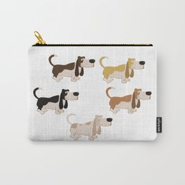 Basset Hound Colors Illustration Carry-All Pouch
