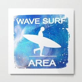 Wave Surf Area Metal Print