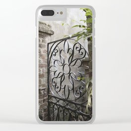 Charleston Back Garden Gate Clear iPhone Case