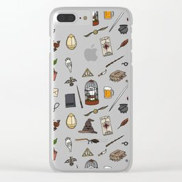 Harry Pattern Clear iPhone Case