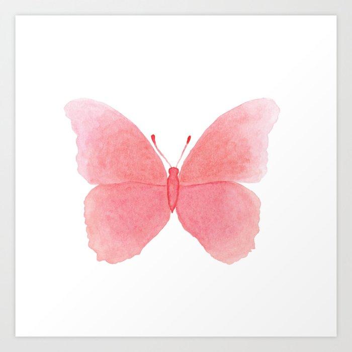 Watermelon pink butterfly Kunstdrucke