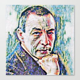 Sergei Rachmaninoff (Serghei Rahmaninov) in 1921 (digitized photography) Canvas Print