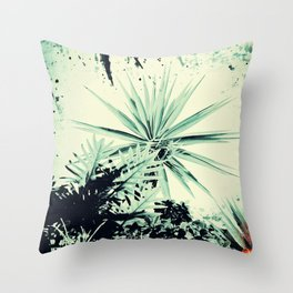 Abstract Urban Garden Throw Pillow