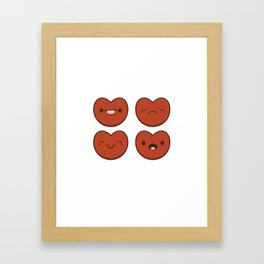 #11 Hearts Framed Art Print