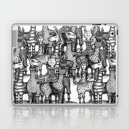 A Crowd of Llamas in Pajamas by dotsofpaint Laptop & iPad Skin