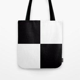 Black White Checkered Tote Bag