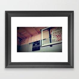 Old Hoops Framed Art Print