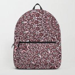 Pink Plant Mandala Backpack