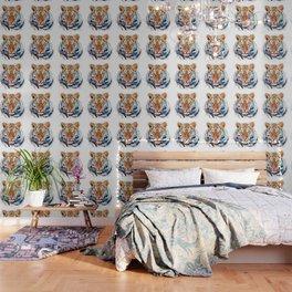 Tiger Head watercolor Wallpaper