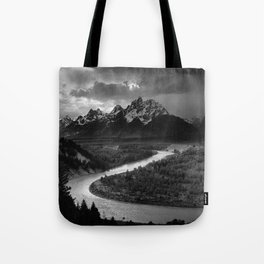 Ansel Adams - The Tetons and Snake River Tote Bag