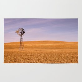 Ripening Cereal Rural Landscape in Australia Rug