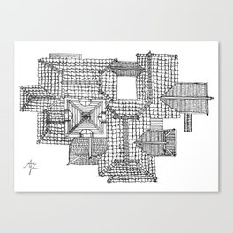Taiwanese roofscapes 01 Canvas Print