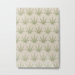 Weed Leaf Metal Print