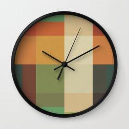 Retro Geometry Wall Clock