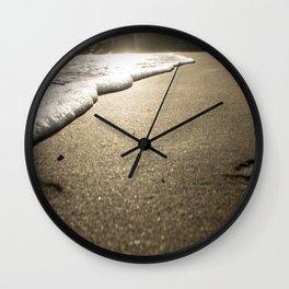 golden hour at muir beach Wall Clock