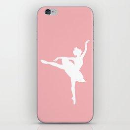 Pink and white Ballerina iPhone Skin