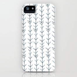 Twigs and branches freeform gray iPhone Case