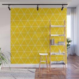 Triangle yellow-white geometric pattern Wall Mural