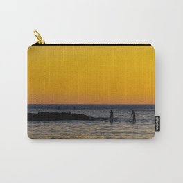 Paddleboarding  - Mackinzie Beach Yellow Sunset Carry-All Pouch