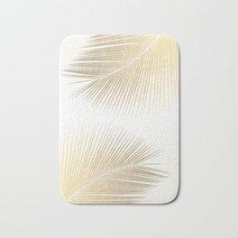 Palm leaf synchronicity - gold Bath Mat