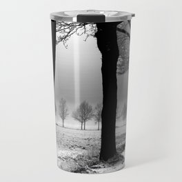 Winter Landscape (Winter Trees, Setting Sun) Travel Mug