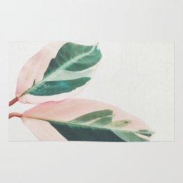 Pink Leaves I Rug