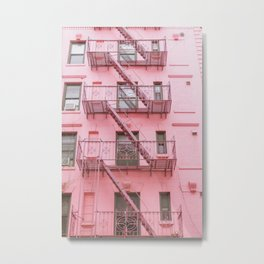 Pink Soho NYC Metal Print