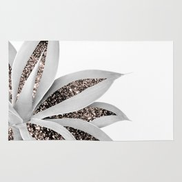Agave Finesse Glitter Glam #1 #tropical #decor #art #society6 Rug