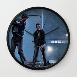 Tyler Durden and the Narrator - Golfing Buddies - Fight Wall Clock